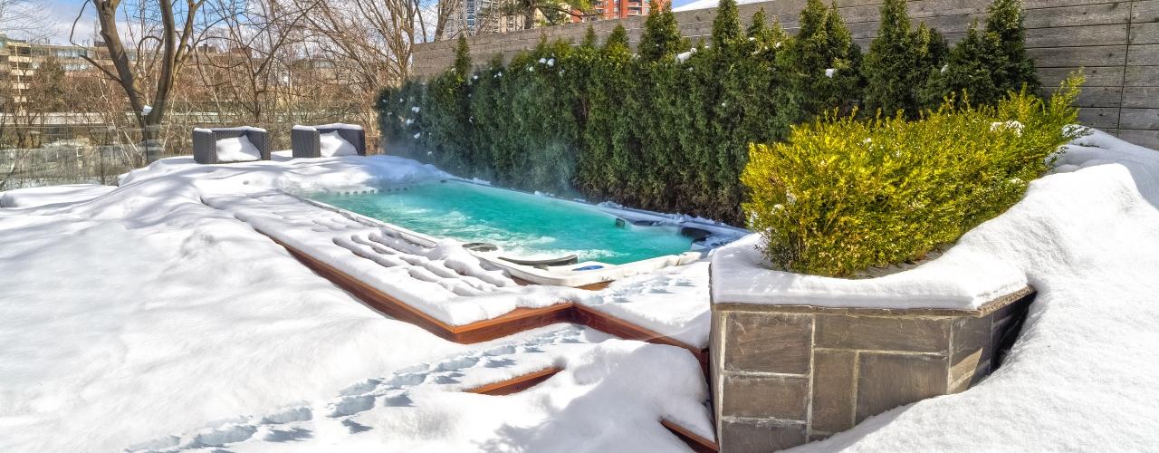 Swim Spa in Snow